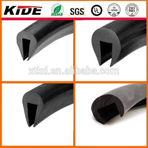rubber u section u section rubber strip u shaped rubber extrusions