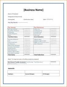 Payslip Templates by Doc 524675 Payslip Sles Sle Pay Slip Employee