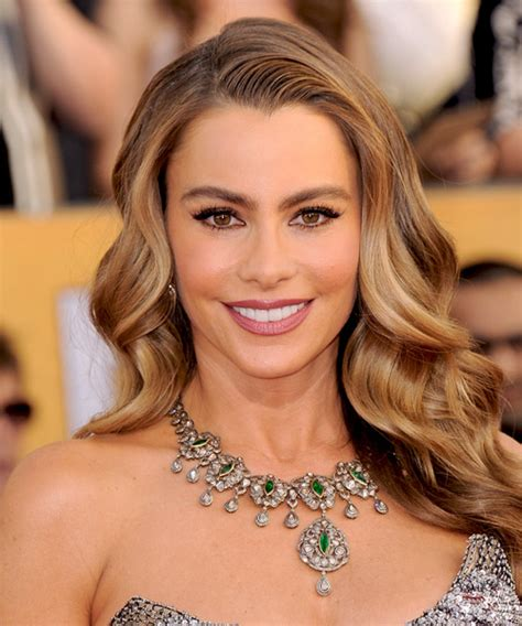 Sofia Vergara Long Wavy Formal Hairstyle   Medium Brunette