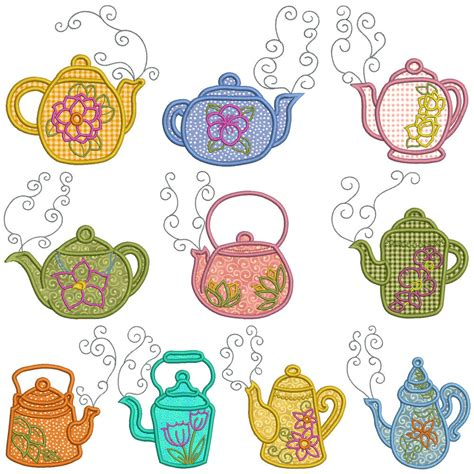 embroidery applique teatime machine applique embroidery patterns 10