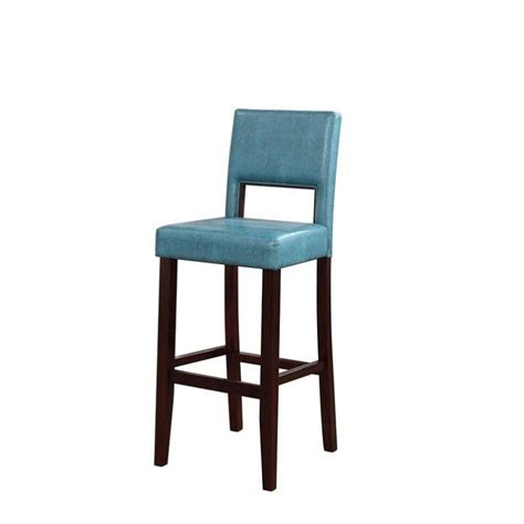 Blue Bar Stool by Linon 30 Quot Agean Blue Bar Stool Ebay