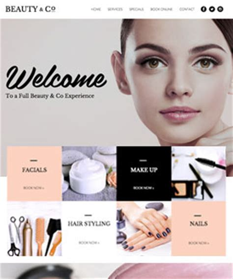 beauty sites free website templates page 14