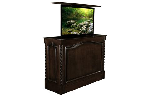 50 inch tv armoire coronado tv lift cabinet with french walnut finish holds