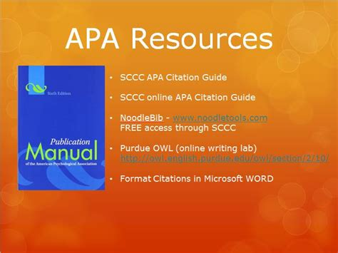 Apa Powerpoint Lis 590 Directed Fieldwork Apa Format For Powerpoint Presentations