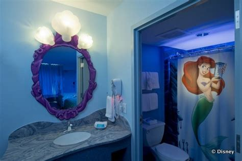 ariel bathroom the little mermaid wing opens completing disney s art of