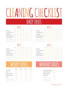 household cleaning shopping checklists free printables