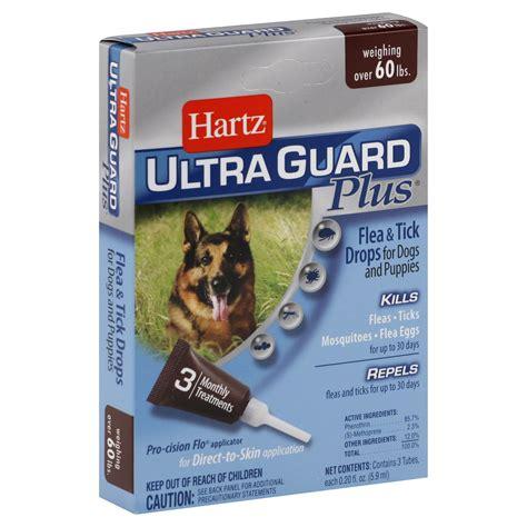 Hartz Ultra Guard Flea Tick Drops For 60 Lbs 108663 hartz ultra guard plus flea tick drops for dogs and
