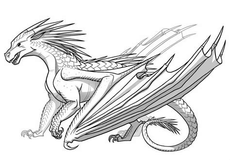 ice dragon coloring page icewing from wings of fire dragon get coloring pages