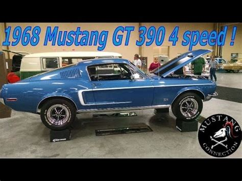 1968 mustang fastback gt 390 4 speed lot # 468 mustang