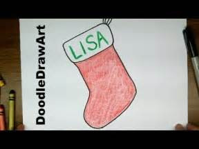 Drawing how to draw cartoon christmas stocking hd easy drawing