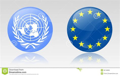 United Nations Nation 22 by Eu And Un Signs Stock Illustration Image Of State Nation