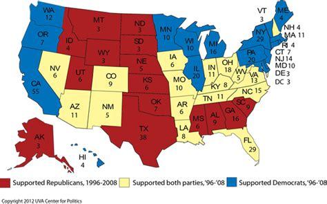map usa democrat republican larry j sabato s 187 plan of attack obama