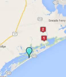 topsail island carolina map topsail island hotels motels carolina nc