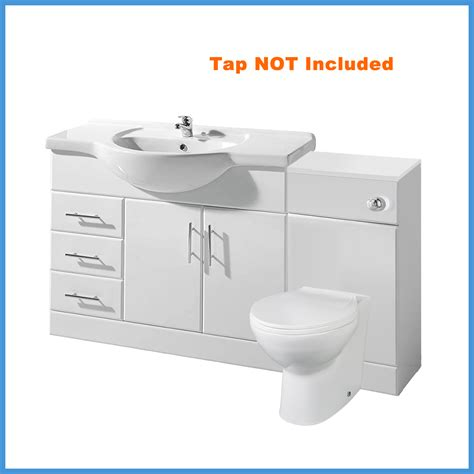 Wc Vanity Unit by Classic Gloss White Bathroom Cloakroom Vanity Unit Wc