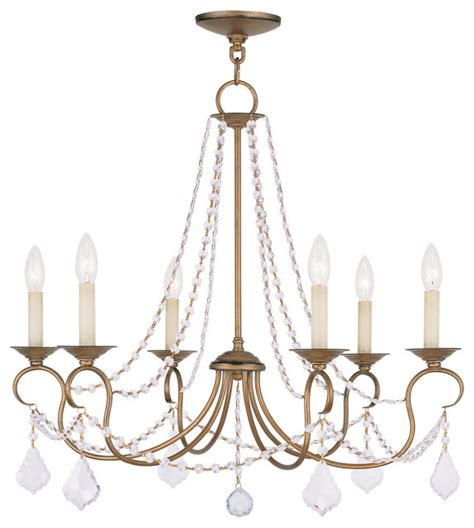 Transitional Chandelier Livex Lighting 6516 48 Chandelier Transitional