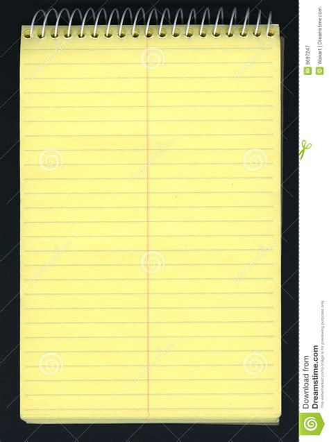 Yellow Ruled Spiral Notepad  Images   Frompo