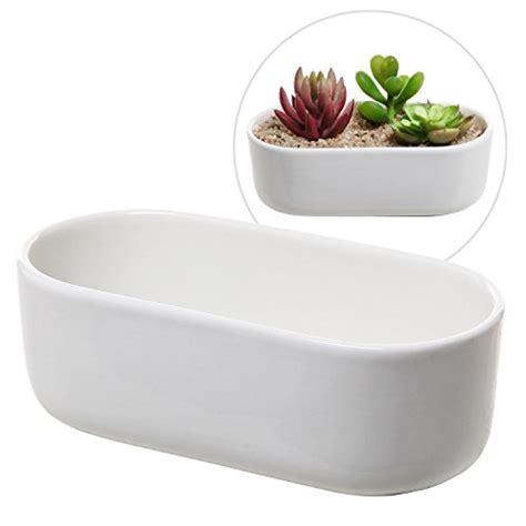 modern decoration ceramic indoor plant pot flower pot home modern oval design white ceramic succulent plant holder