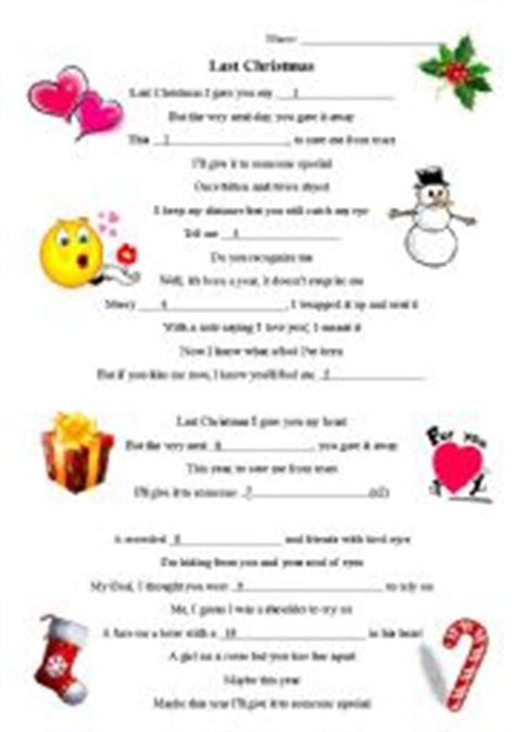 printable christmas fill in the blank games last christmas fill in the blanks