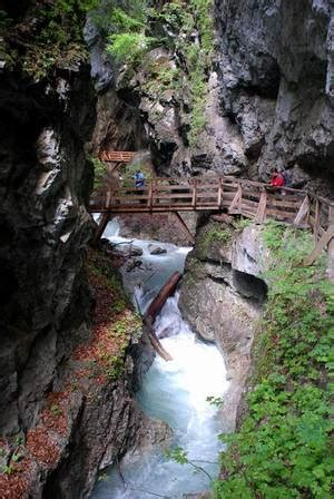 wolfsklamm beautiful gorge in tyrol, sight in the