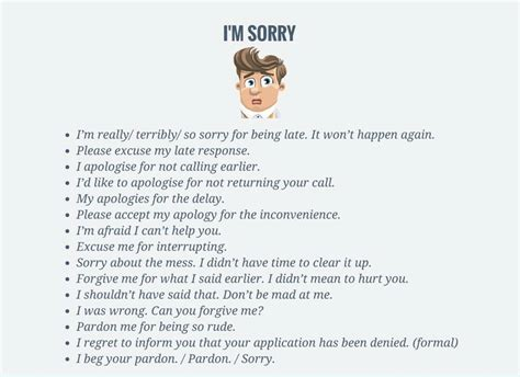 7 Ways To Say Im Sorry other ways to say i m sorry vocabulary home