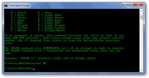 Red Color Combinations by How To Personalize The Windows Command Prompt