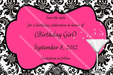 birthday save the date card templates save the date damask wedding birthday anniversary shower