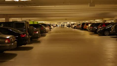 parking garage the cars an underground parking garage of cars parked for an
