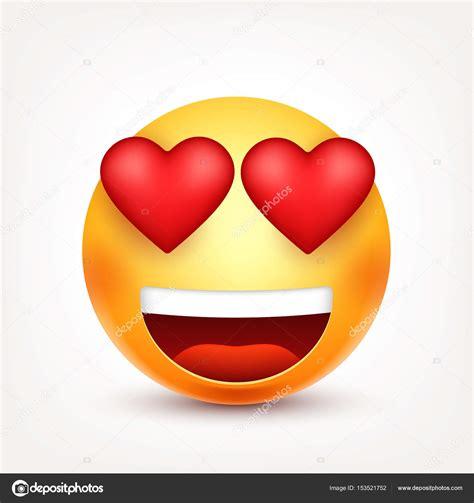 imagenes de corazones graciosos smiley emoticon con cuori faccia gialla con le emozioni