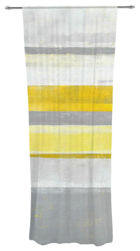 lemon yellow sheer curtains carollynn tice quot lemon quot yellow gray decorative sheer