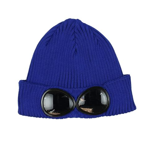 cp hat cp company boys blue hat with goggles cp company from