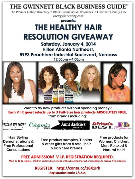 Hair Giveaway 2014 - 2014 healthy hair resolution giveaway event
