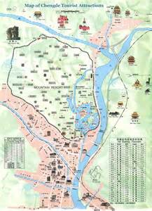 map in detailed tourist map of chengde chengde summer palace