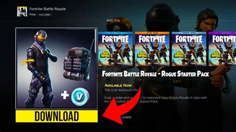 fortnite rogue new how to rogue starter pack on fortnite