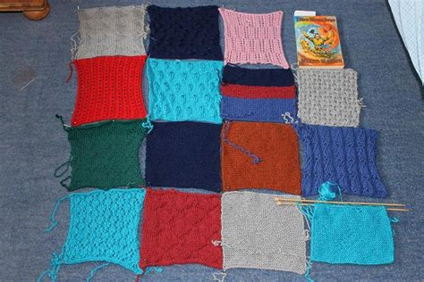 Knitting A Patchwork Blanket - knitted square project