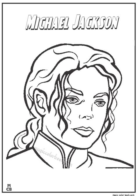 famous people coloring pages michael jackson printable