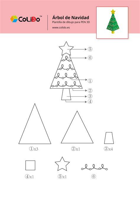 arbol navidad plantilla plantillas de piezas para pen 3d colido