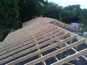 Flat Roof Pitch Commercial Roofing Roof Framing From Flat Roof To A Pitch
