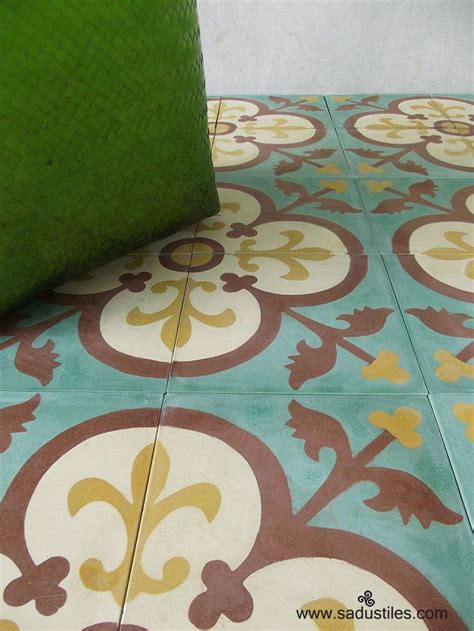 Handmade Cement Tiles - 1000 images about cement tegels on terrace