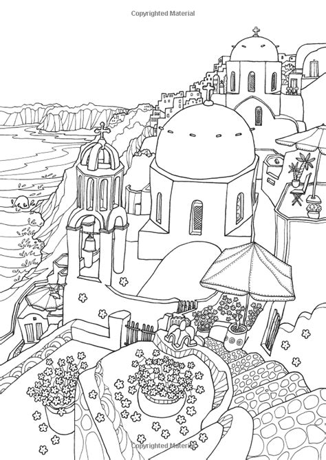 Greece Travel Coloring Book coloring europe magical greece a coloring book tour of
