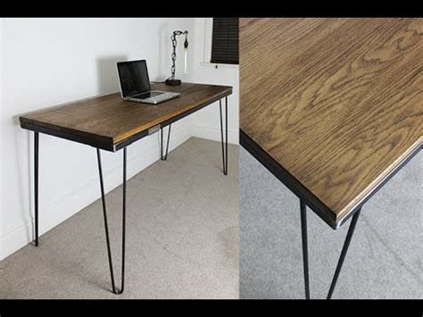 industrial hairpin leg desk industrial desk with hairpin legs russelloakandsteel com