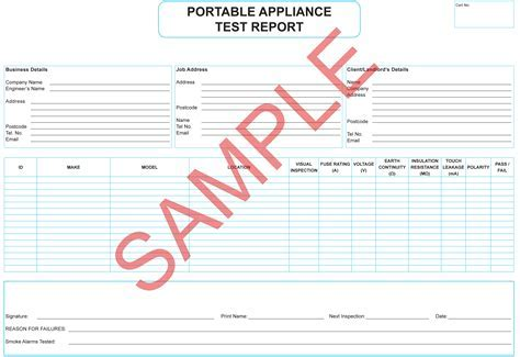 Pretty Portable Appliance Testing Certificate Template Pictures