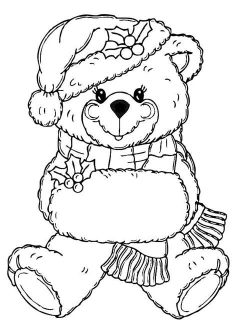 coloring pages christmas bear christmas bear coloring pages coloring home