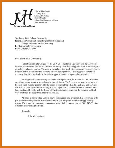 Exle Of A Formal Memorandum Letter | memo format exle letter format business