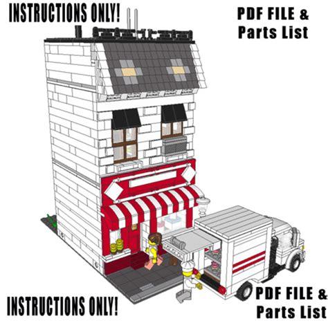 lego modular tutorial purchase custom lego instructions brick city bakery
