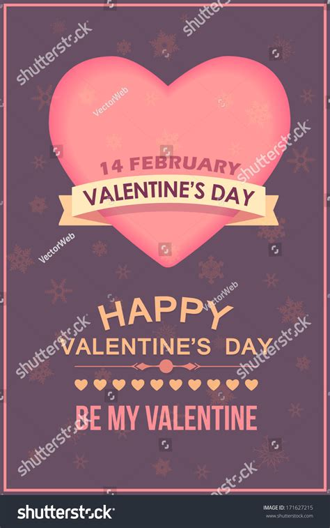 day poster template valentines day poster template cards background stock