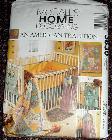 Crib Bedding Sewing Patterns Pattern Mccalls 3630 Baby Quilt Stacker Bed