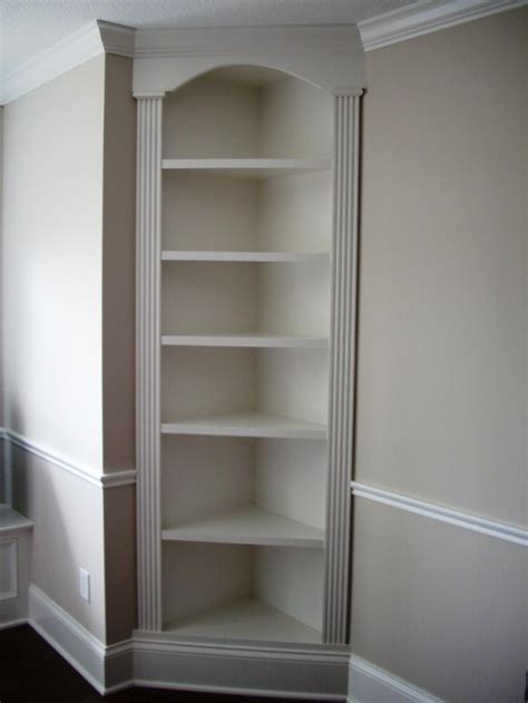 built in corner cabinet corners tend to be dead spaces so i m a big fan of corner
