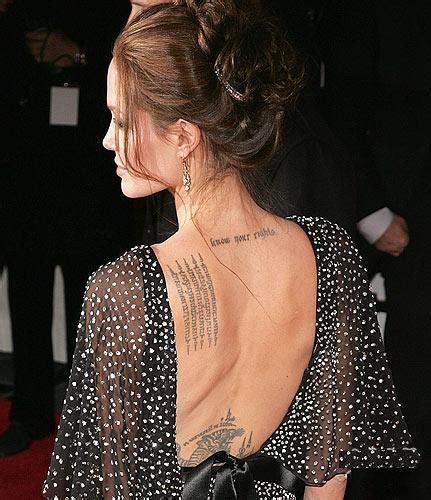 angelina jolie tattoo know your rights font angelina jolie tatuajes modaellas com
