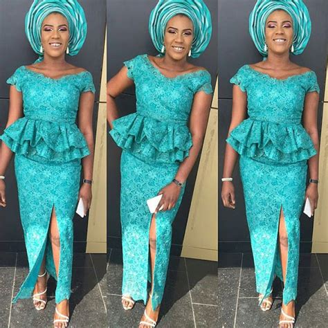 photo of nigeria lace skirt and blouse nigerian lace skirt and blouse ankara styles fashion