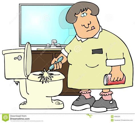 Cox Plans toilettes de nettoyage illustration stock illustration du